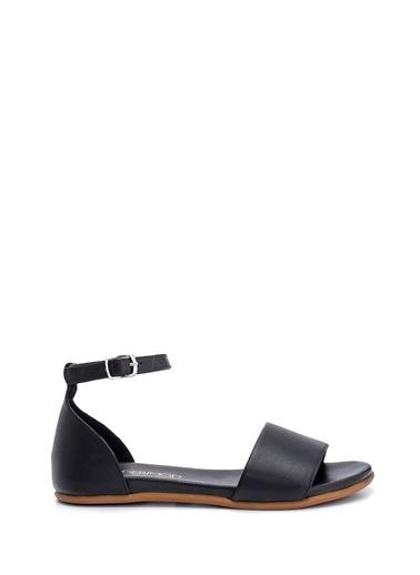 Derimod Kadın Deri Sandalet Siyah
